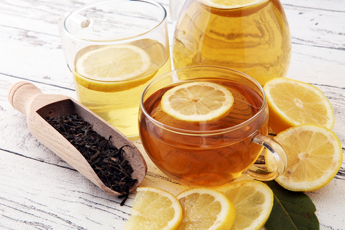 Fruit tea between meals causes tooth erosion