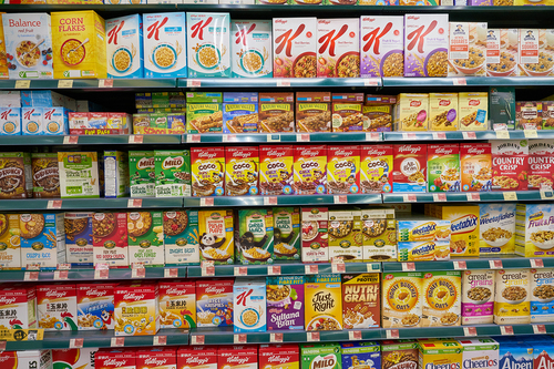 Sainsbury's puts sugary cereals on top shelf