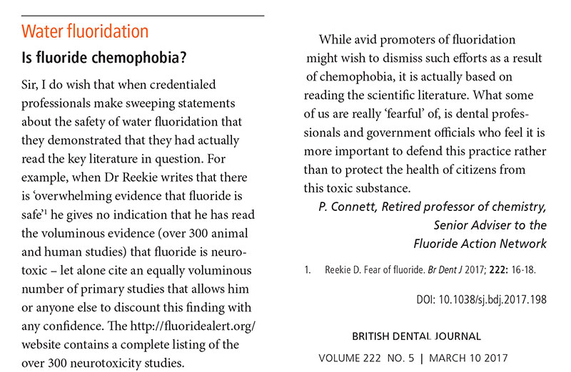 Is Fluoride Chemophobia?