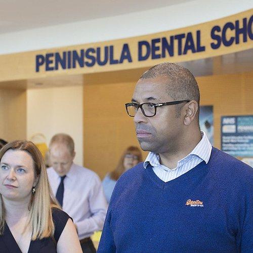 Government minister visits Peninsula Dental School