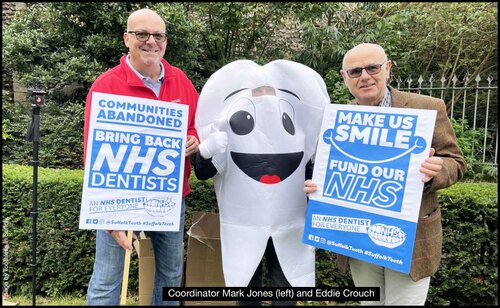 BDA Chair Speaks At Rally, As Dental Access Protesters Take To The Streets