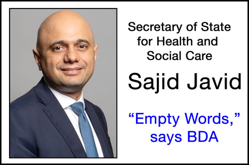 Speech Omission Suggests Health Secretary Is Not 'Inspired' By Dental Professionals
