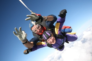 Lesley jumps to raise funds