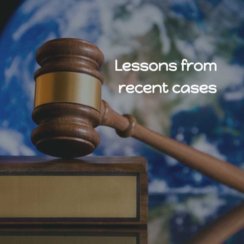 Lessons to be Learnt from Recent Cases