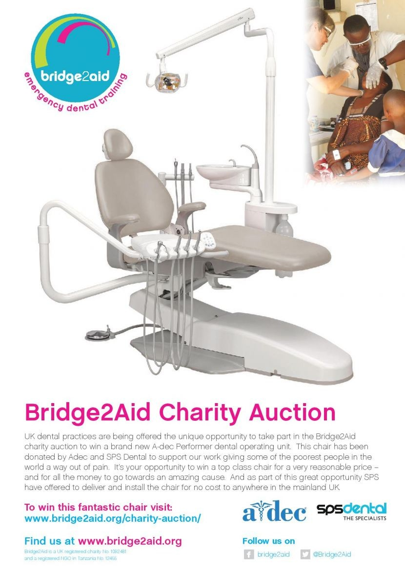 Bridge 2 Aid Charity auction for A-dec Chair