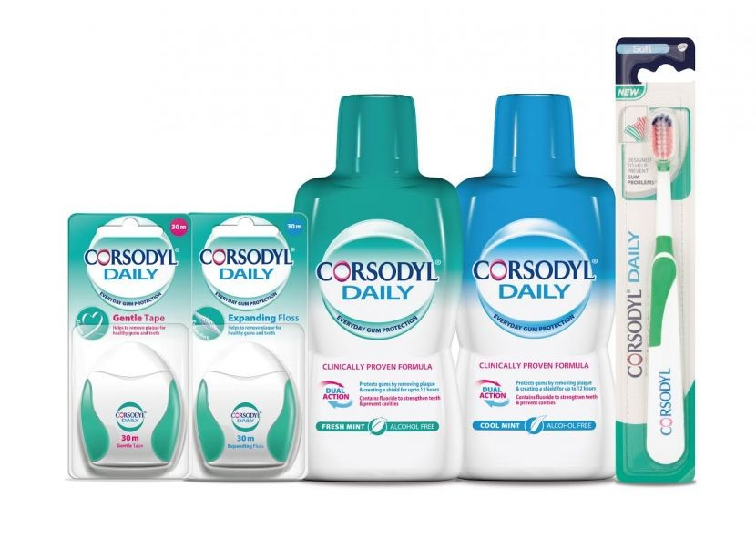 The Corsodyl® Daily range – helping to keep gums healthy