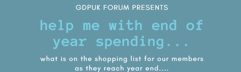 Help me with end of year spending.....