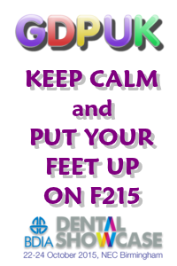 Rest your feet on the GDPUK stand! F215