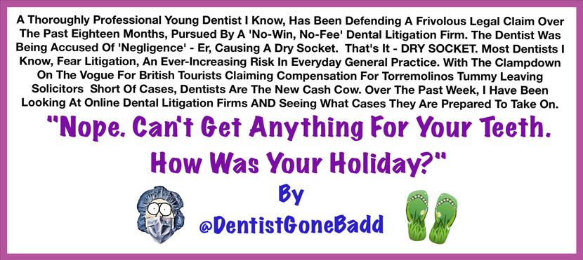 Dental litigation - fighting back
