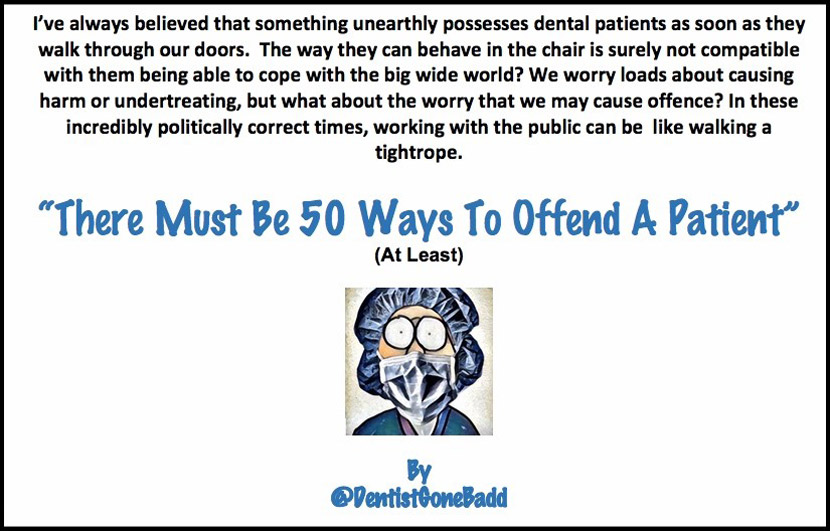 50 ways to offend a patient