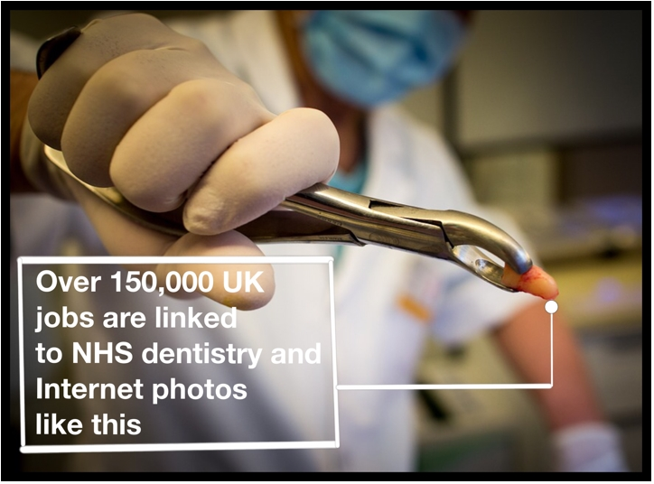 Over 150,000 UK jobs are linked to NHS dentistry and Internet photos like this