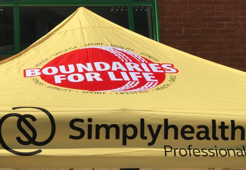 Boundaries For Life - oral health checks at cricket grounds